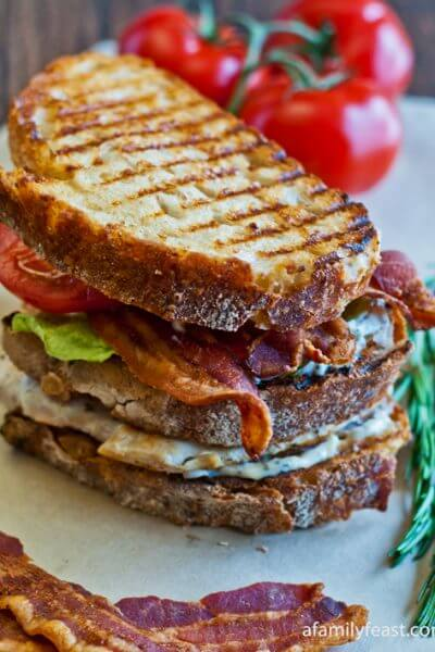 Grilled Chicken Club with Rosemary Aioli - A Family Feast
