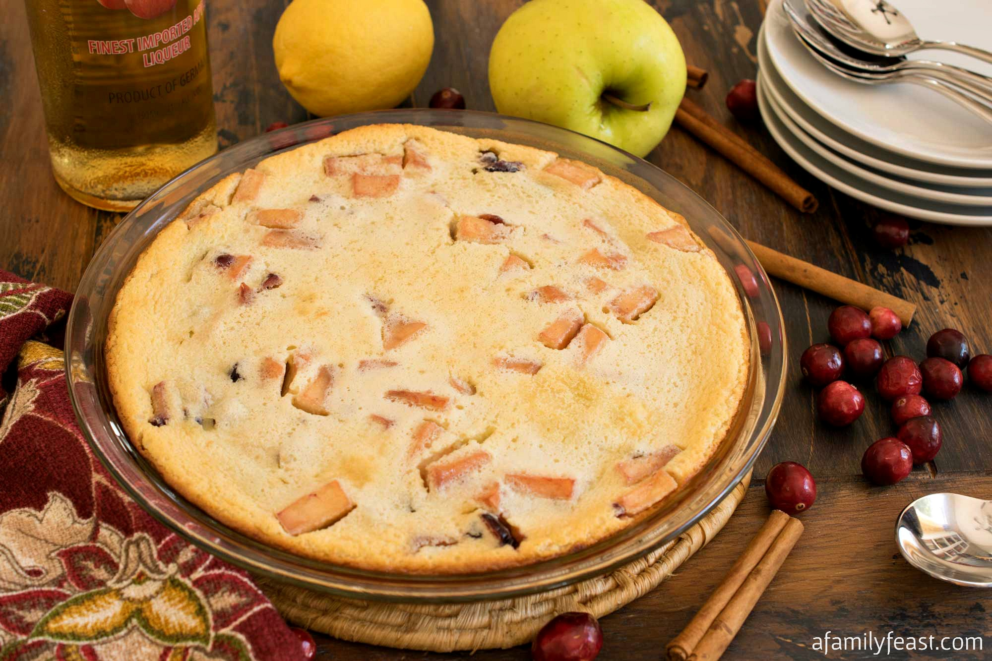 Cranberry Apple Clafoutis