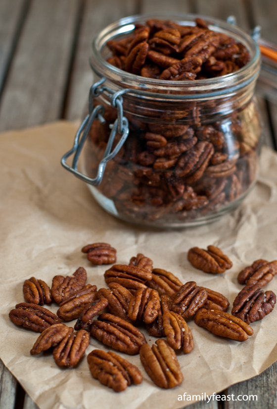 Spiced Pecans - A Family Feast