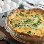 Spinach and Cheddar Quiche