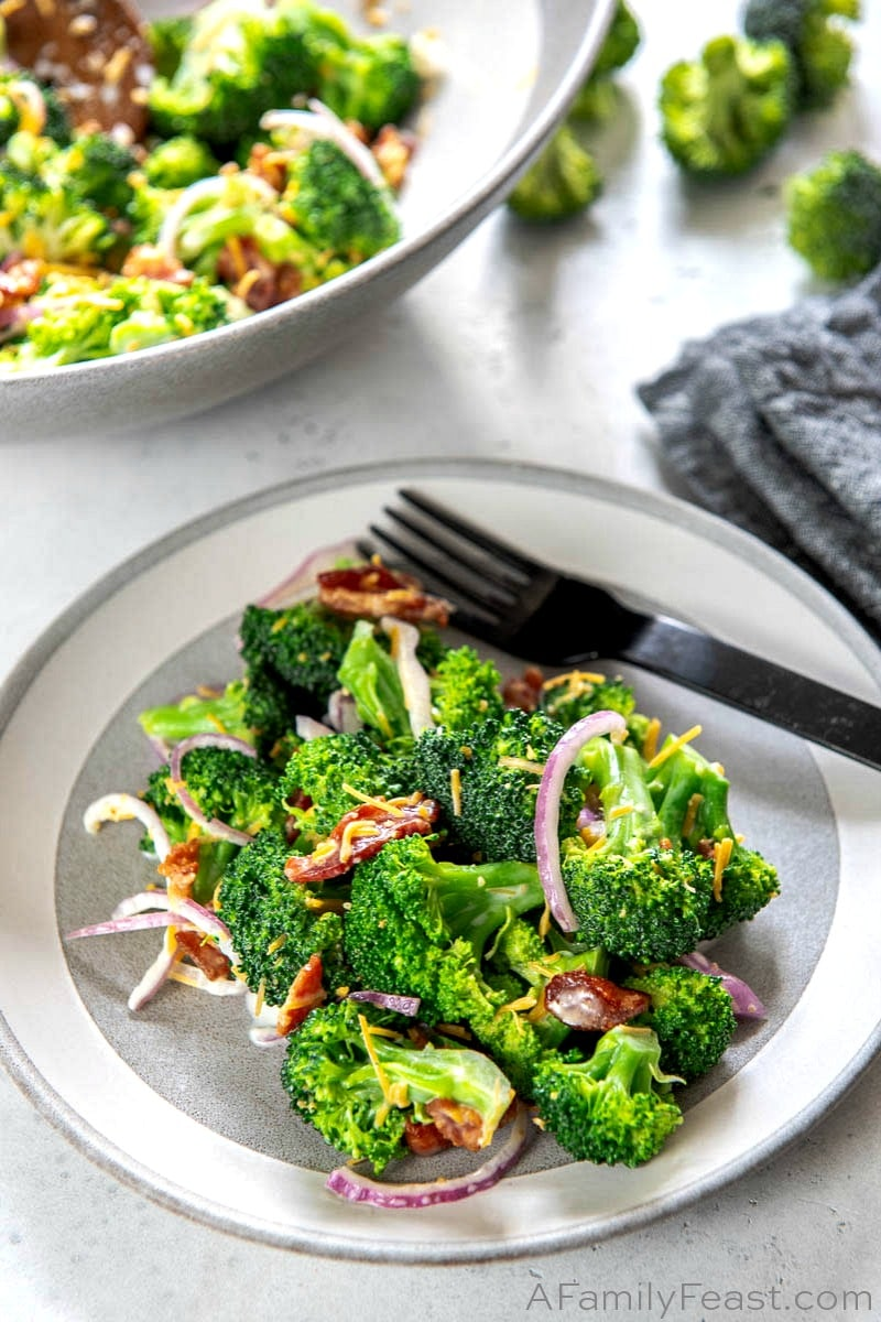 Broccoli And Bacon Salad A Family Feast