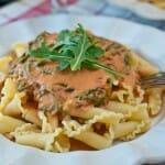 Pasta with Arugula Cream Sauce