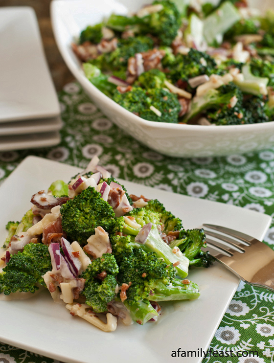 Broccoli and Bacon Salad - A Family Feast