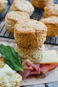 Prosciutto and Cheese Biscuits - A Family Feast