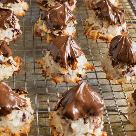 Cranberry Almond Coconut Macaroons
