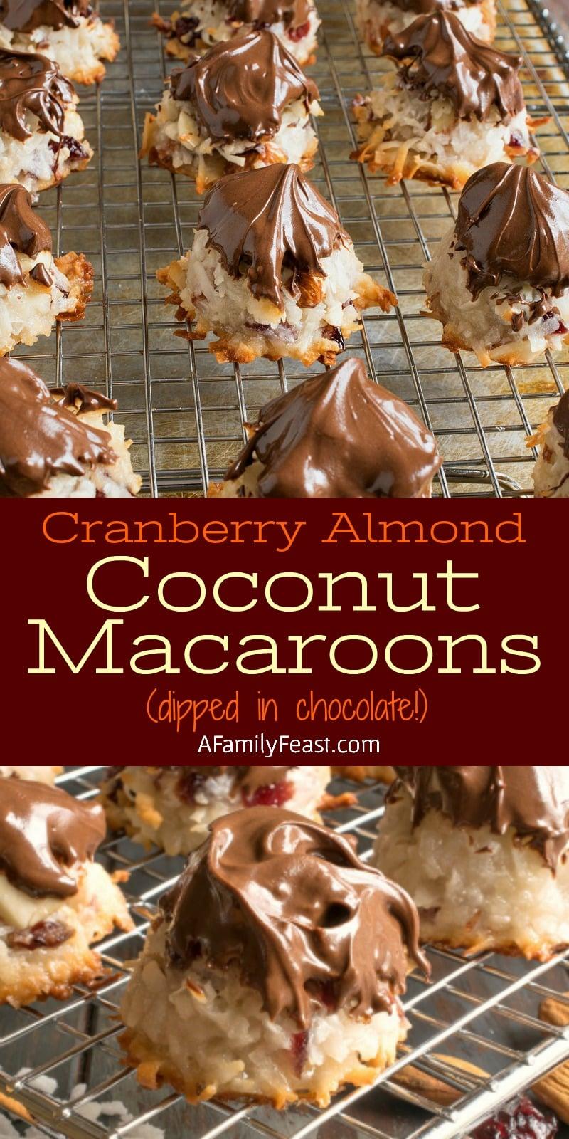 Cranberry Almond Coconut Macaroons - Au Bon Pain copycat