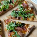 Prosciutto and Fig Pizza with Arugula