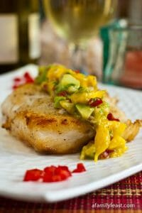 Halibut with Mango-Avocado Salsa - A Family Feast