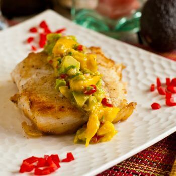 Halibut with Mango-Avocado Salsa - A Family Feast