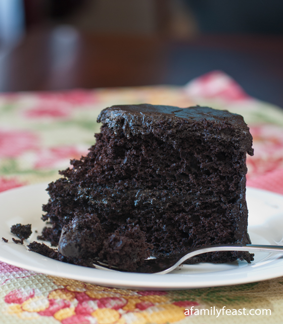 Black Midnight Cake - A Family Feast