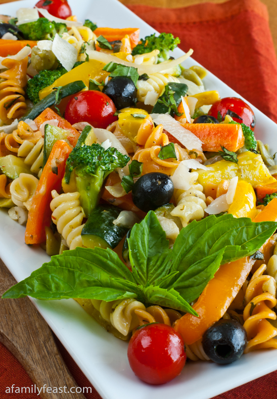 A delicious Pasta Primavera recipe filled with fresh vegetables. Makes a great light meal or a salad side dish.