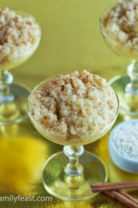 Portuguese Rice Pudding - A Family Feast