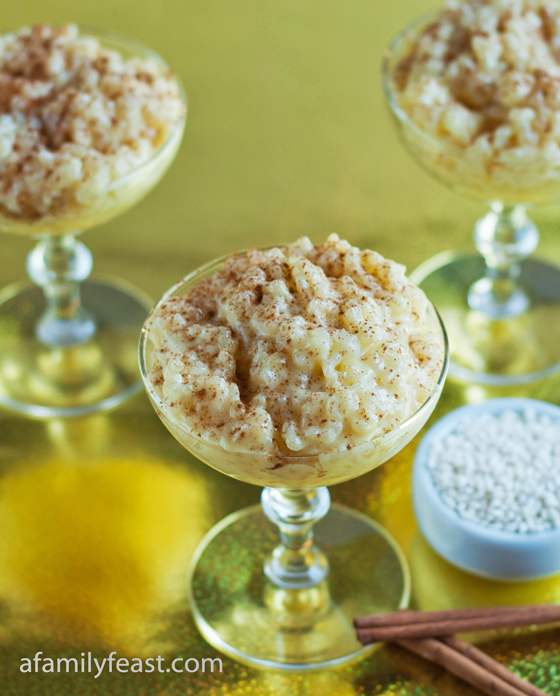 delicious Portuguese Rice Pudding recipe - creamy and delicious!