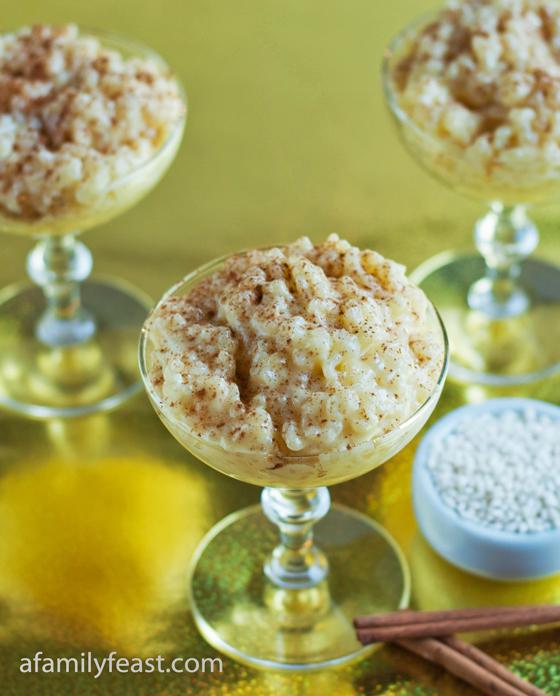 A delicious Portuguese Rice Pudding recipe - creamy and delicious!