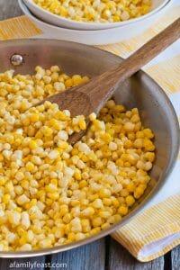 Sauteed Fresh Corn - A Family Feast