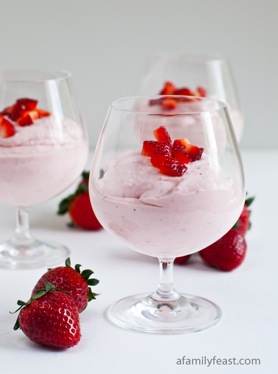Strawberry Cheesecake Mousse - A Family Feast