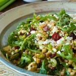 Wheatberry Salad with Cranberries, Feta and Orange Citronette