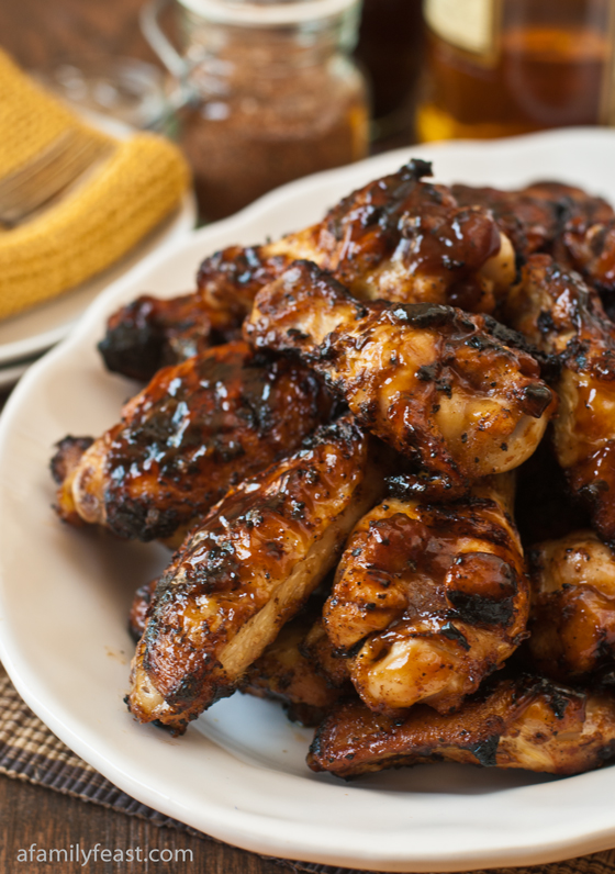 A fabulous Bourbon Spice Barbecue Chicken Wings recipe - easy and so delicious!