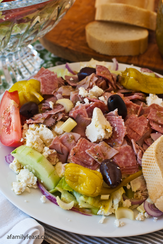 Our attempt at recreating the famous Greek Salad with Meat recipe from Christo's Restaurant in Brockton, Massachusetts.