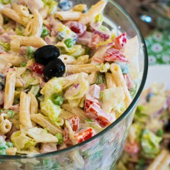 Chopped Salad with Pasta - A Family Feast