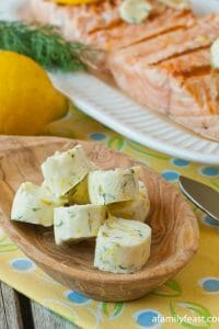 Lemon Dill Compound Butter - A Family Feast