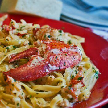 Lobster Zambuca Over Fettucini - A Family Feast