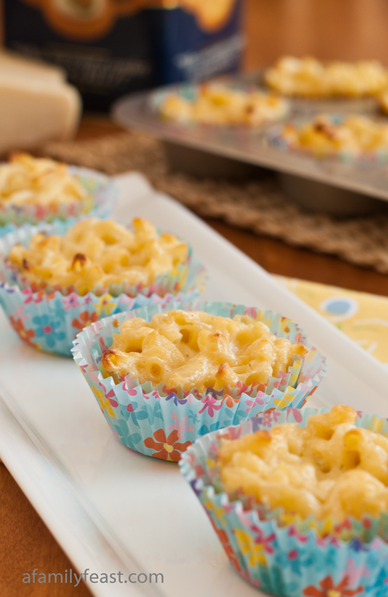 A delicious recipe for Mac and Cheese Cupcakes - we make these every year for our summer party. This is a recipe that kids and adults both love!
