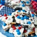 Chocolate Cookie Candy Pretzel Bark - A Family Feast