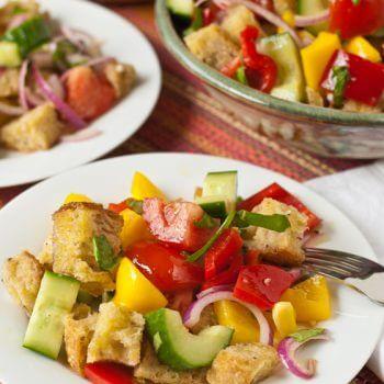 Panzanella Bread Salad - A Family Feast