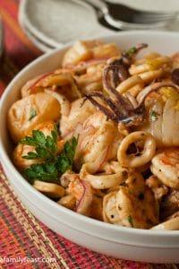 Seafood Salad - A Family Feast