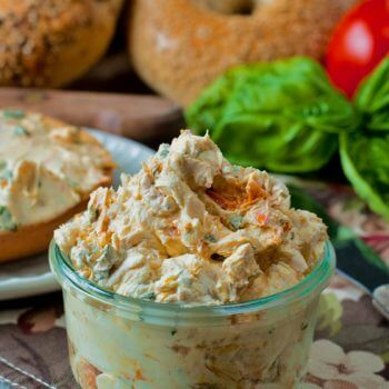Sundried Tomato Basil Cream Cheese Spread - A Family Feast