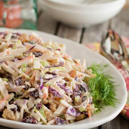 Apple Fennel Slaw - A Family Feast