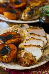 Grilled Basil Garlic Chicken Breasts - A Family Feast