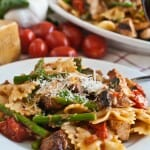 Pasta, Chicken & Asparagus in Garlic Tomato Sauce - A Family Feast