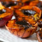 Grilled Balsamic Peaches