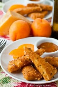 Fried Manchego with Apricot-Sage Dipping Sauce - A Family Feast