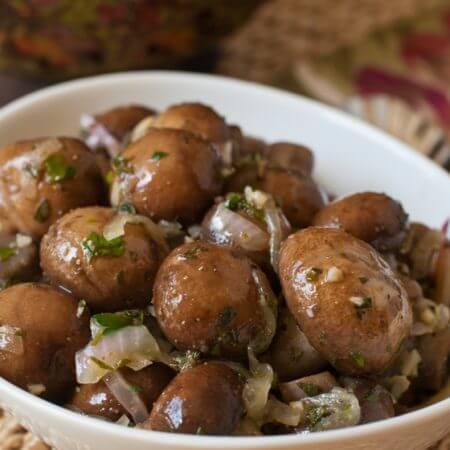Marinated Mushrooms - A Family Feast