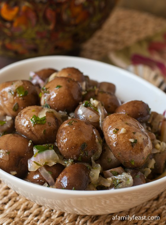 Marinated Mushrooms - A Family Feast