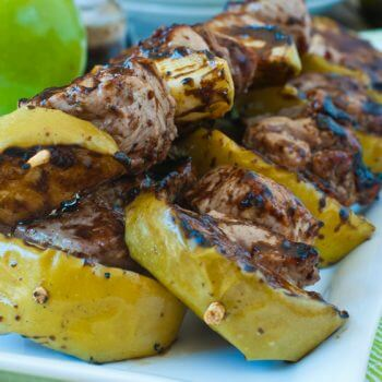 Pork Apple Kebobs - A Family Feast