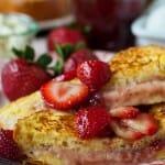 Mascarpone Strawberry Stuffed French Toast - A Family Feast