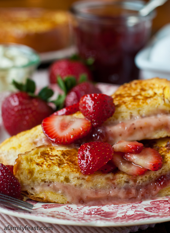 Mascarpone Strawberry Stuffed French Toast