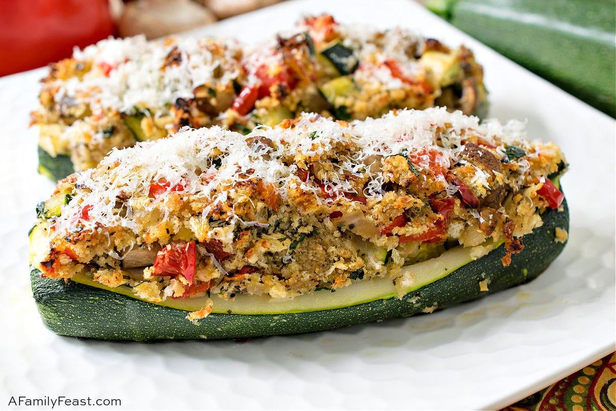 Vegetarian Stuffed Zucchini
