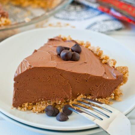 No-Bake Chocolate Cheesecake Pie - A Family Feast