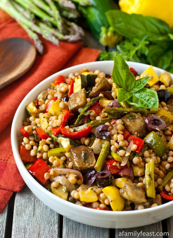 Israeli Couscous Salad With Roasted Vegetables Recipes — Dishmaps