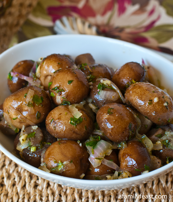 ... marinated mushrooms – and we're sharing this delicious recipe with