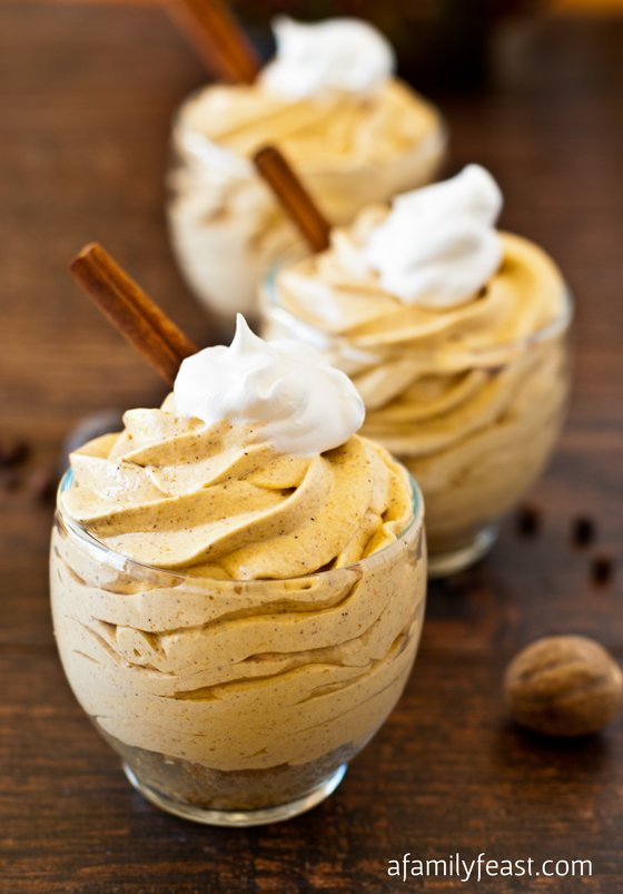 No-Bake Mini Pumpkin Cheesecakes - A Family Feast