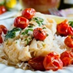 Poached Cod with Tarragon and Cherry Tomatoes