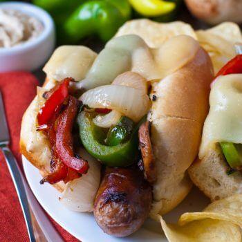 Italian Sausage Sub with Toasted Fennel Aioli - A Family Feast