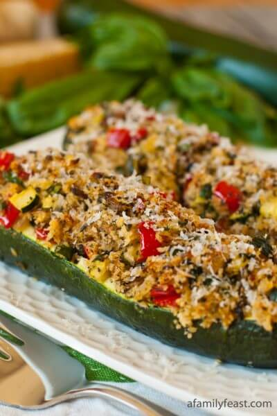 Vegetarian_Stuffed_Zucchini - A Family Feast