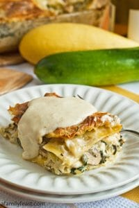 White Vegetable Lasagna - A Family Feast